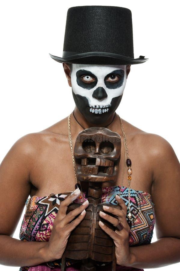 Priestess van het voodoo stock afbeeldingen