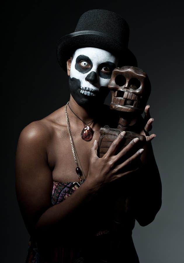 Priestess van het voodoo stock fotografie