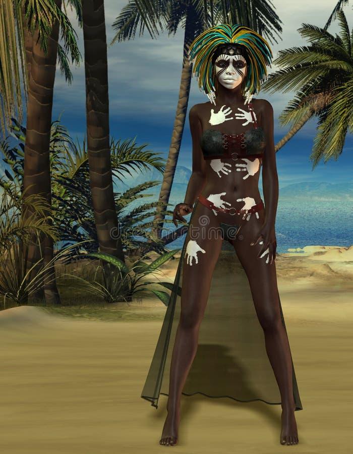 Priestess Voodoo с картиной бесплатная иллюстрация