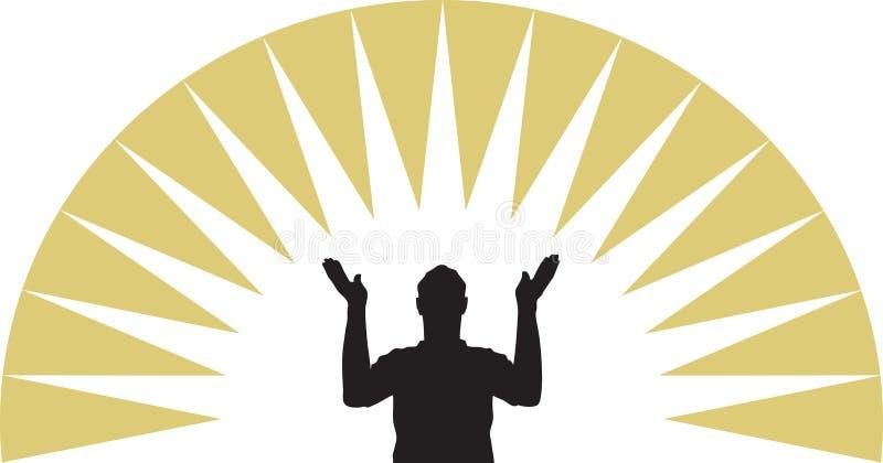 Priez illustration de vecteur