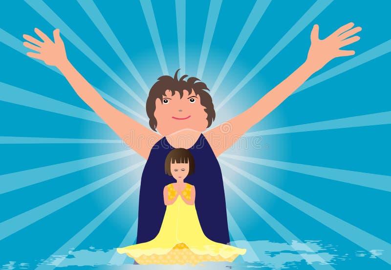 Priez et félicitez illustration stock