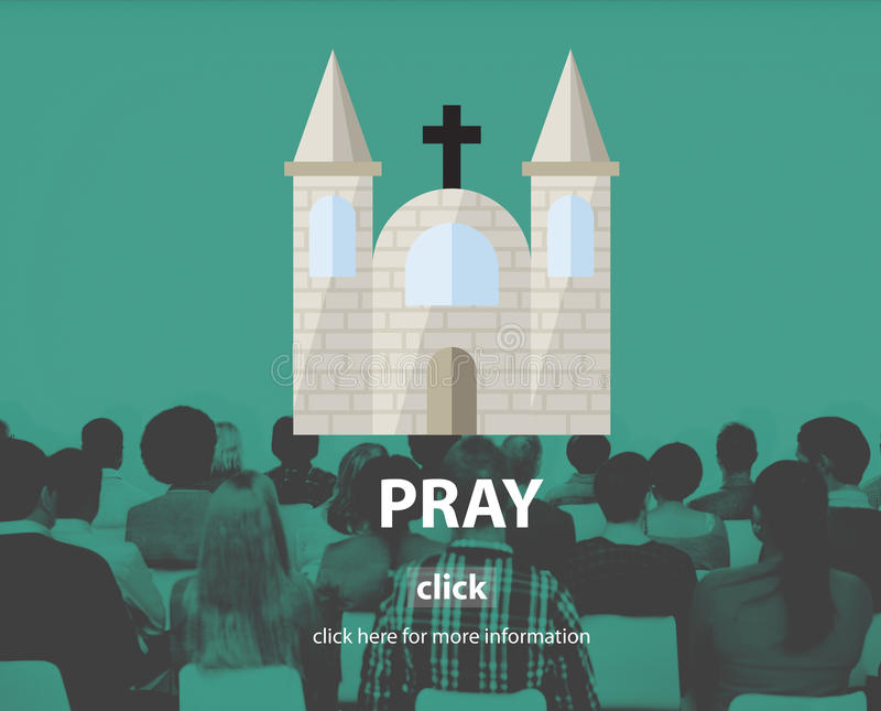Priez le concept spirituel de foi de confession de religion de prière photo stock