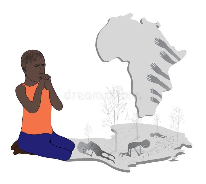Priez pour l'Afrique illustration libre de droits