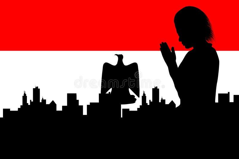 Priez pour l'Egypte illustration stock