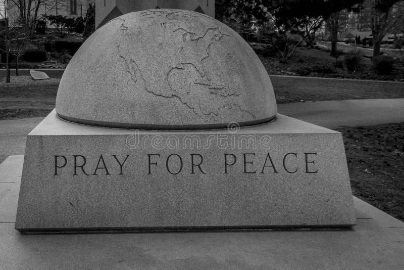 Priez pour la paix photographie stock libre de droits