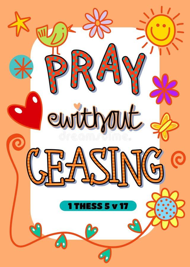 Priez sans cessation illustration libre de droits