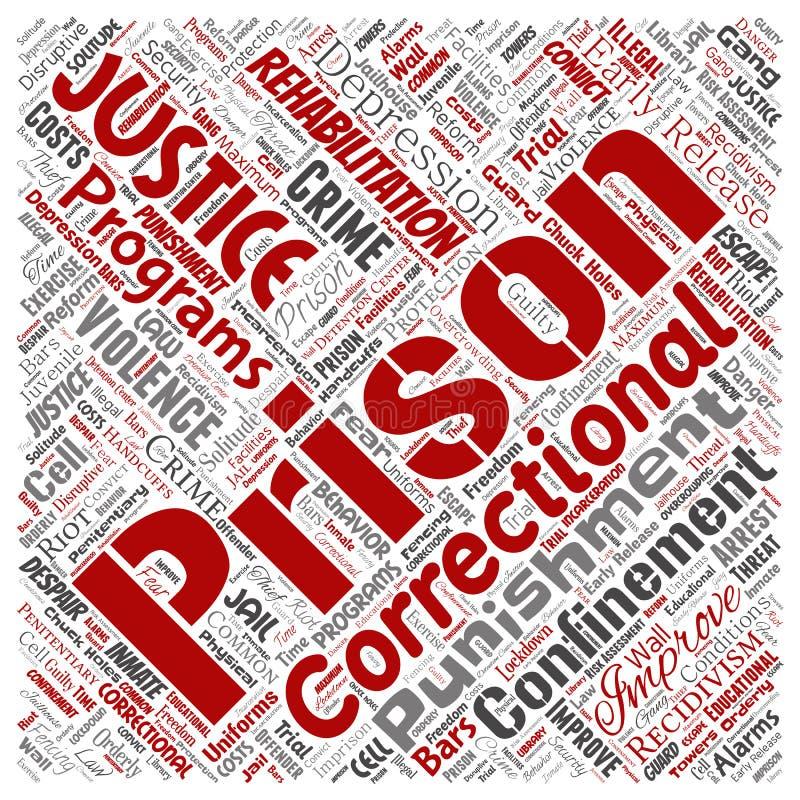 Prigione di vettore, giustizia, quadrato di crimine royalty illustrazione gratis