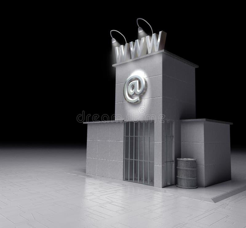 Prigione di WWW royalty illustrazione gratis