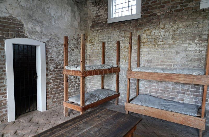 Prigione militare fotografia stock