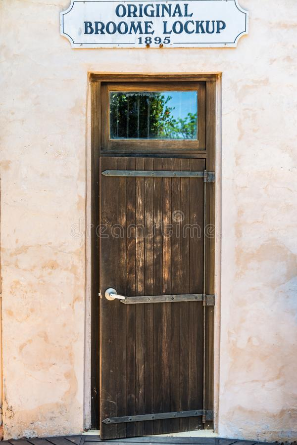 Prigione originale storica in Broome, ora un museo fotografie stock