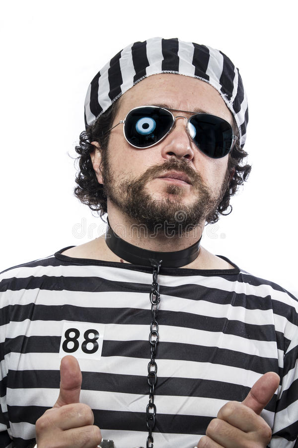Prigione, un criminale caucasico del prigioniero dell'uomo fotografie stock libere da diritti