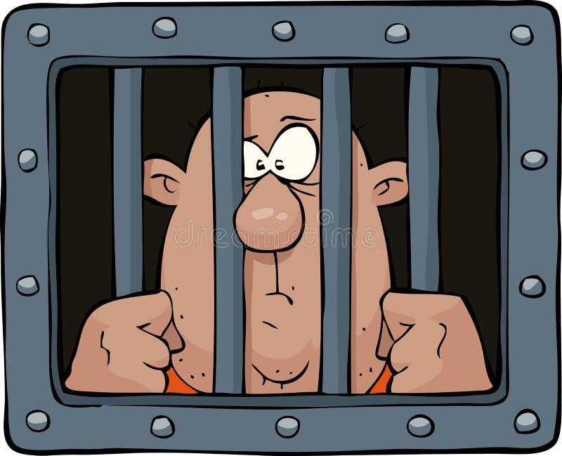 Prigioniero illustrazione vettoriale