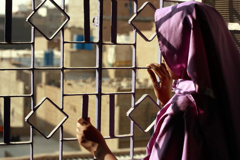 Prigioniero fotografia stock