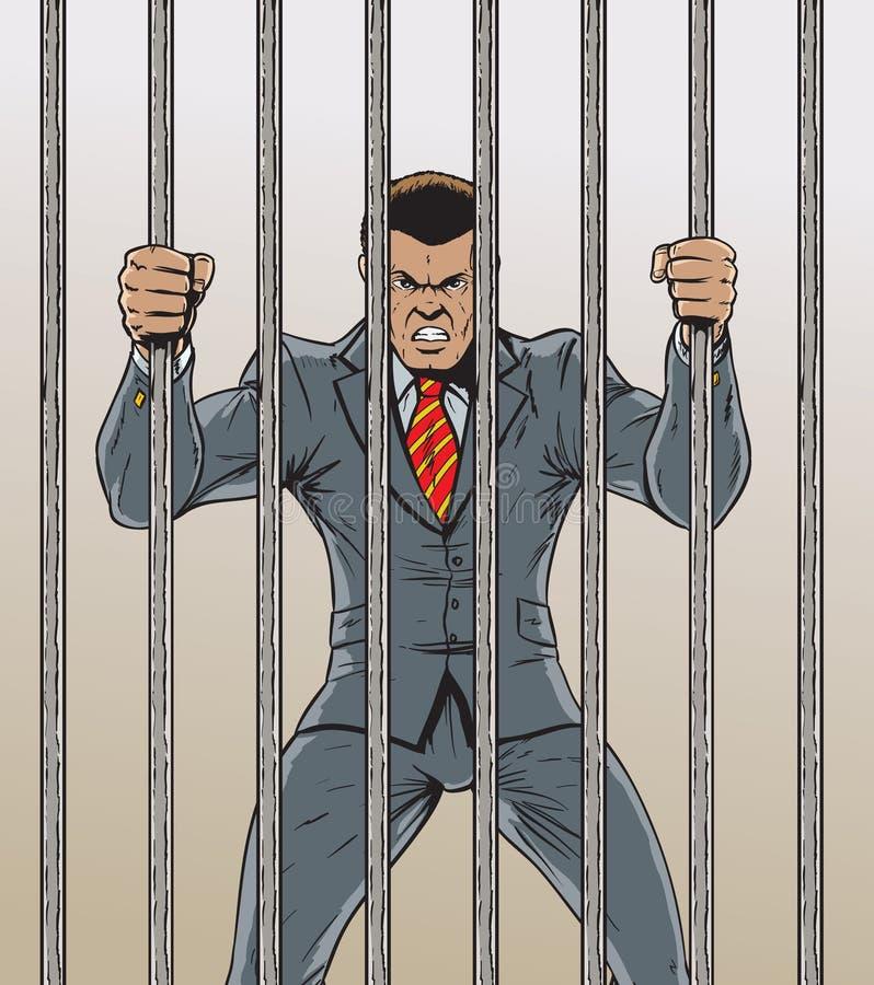 Prigioniero dell'uomo di affari illustrazione di stock