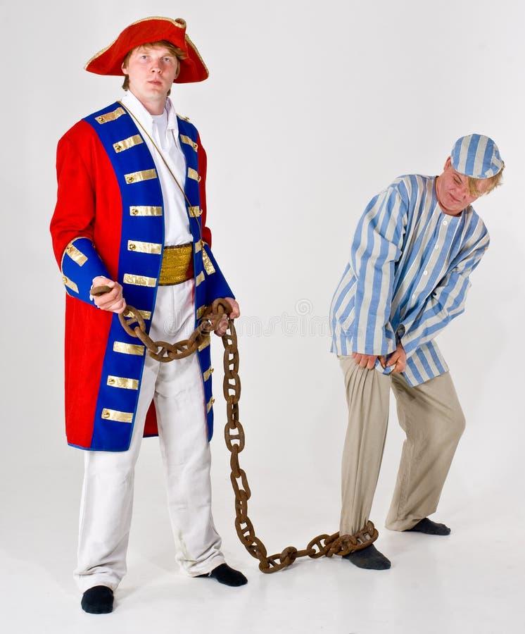 Prigioniero e marinaio fotografia stock