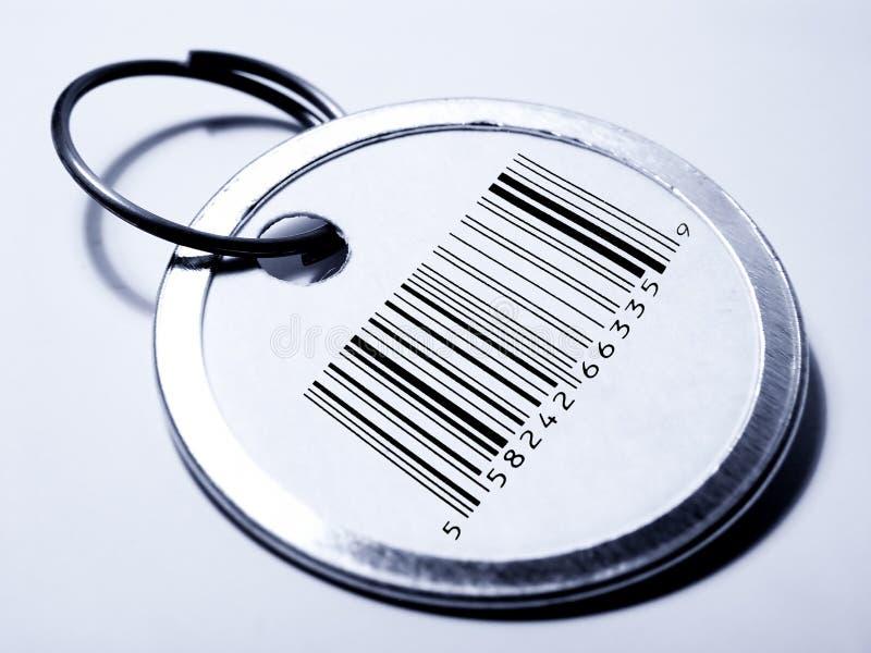 Prijskaartje met streepjescode stock foto