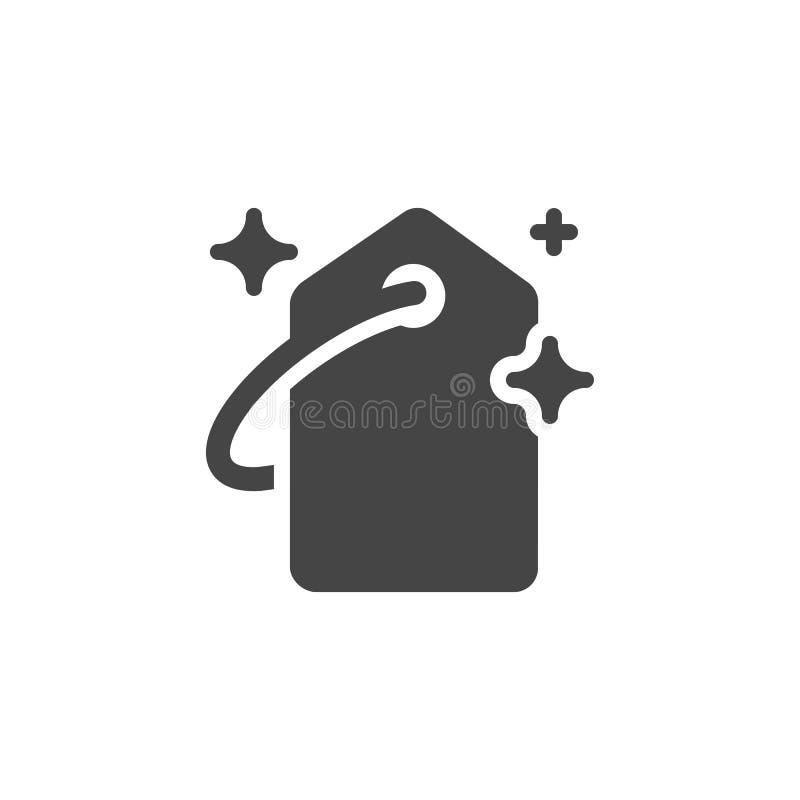 Prijskaartje vlak pictogram Grafische etiketten voor aanbiedingen, nieuwe inzamelingen, zwarte vrijdag, verkoop Marketing teken G vector illustratie