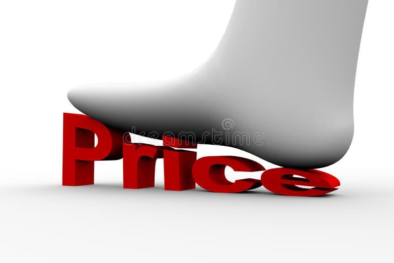 Prijsvermindering stock illustratie
