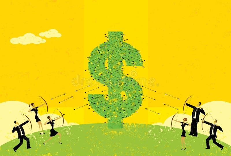 Prijzenoorlog royalty-vrije illustratie