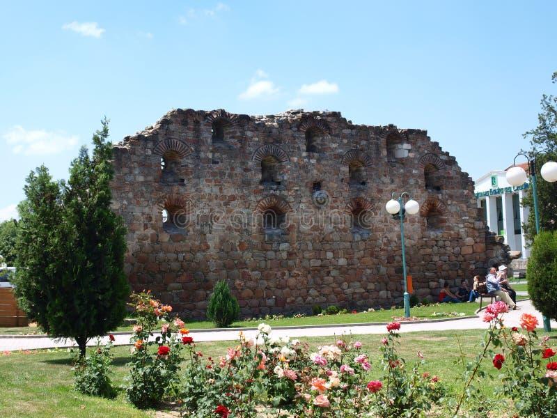 Prilep, Macedonia. Remains of an old Turkish bath house, Prilep, Macedonia stock images