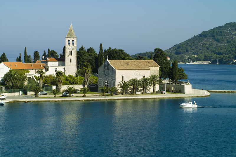 Prilovo, console do Vis - Croatia fotos de stock royalty free