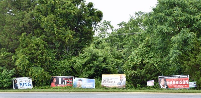 Primärvalaktionen undertecknar North Carolina fotografering för bildbyråer
