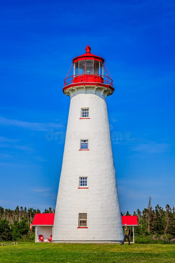 Prim Leuchtturm des Punktes, PEI, Kanada lizenzfreie stockfotos