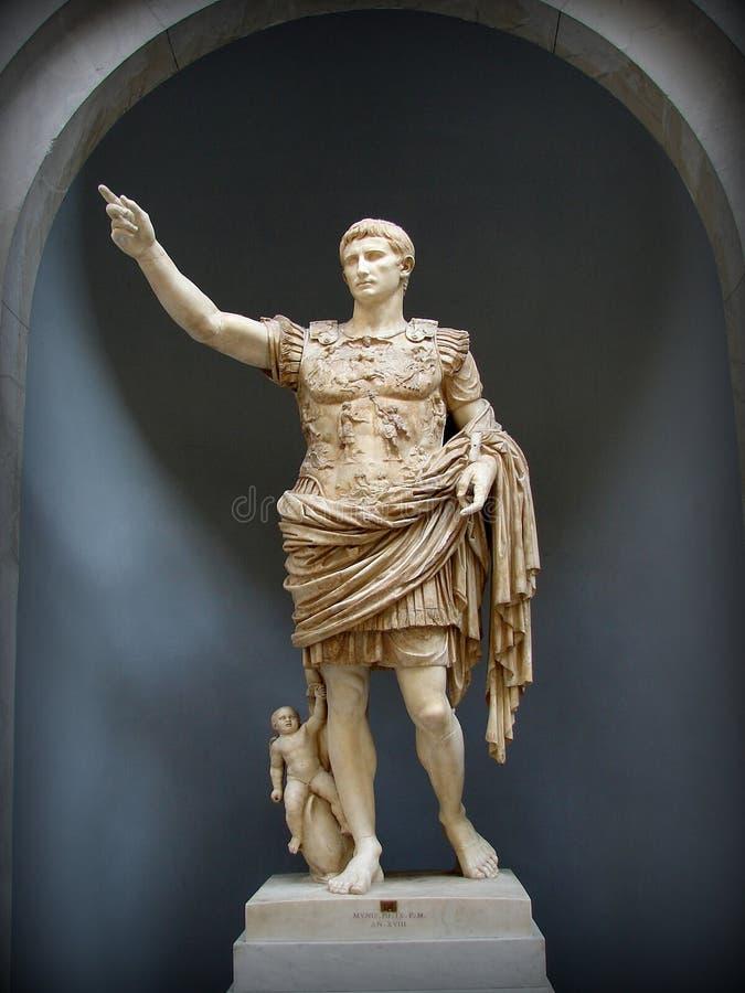 Prima波尔塔-梵蒂冈博物馆的奥古斯都 免版税库存照片