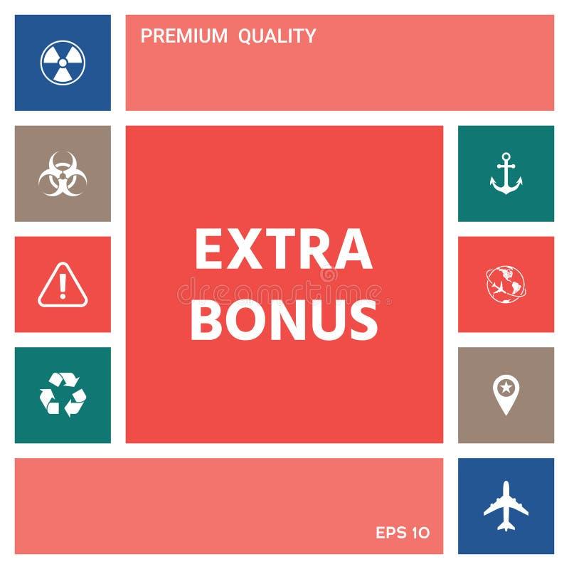 Prima adicional - botón Elementos para su diseño stock de ilustración