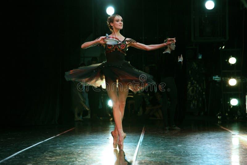 Prima-Ballerina des Mariinsky-Theaters Ulyana Lopatkina und so lizenzfreie stockbilder