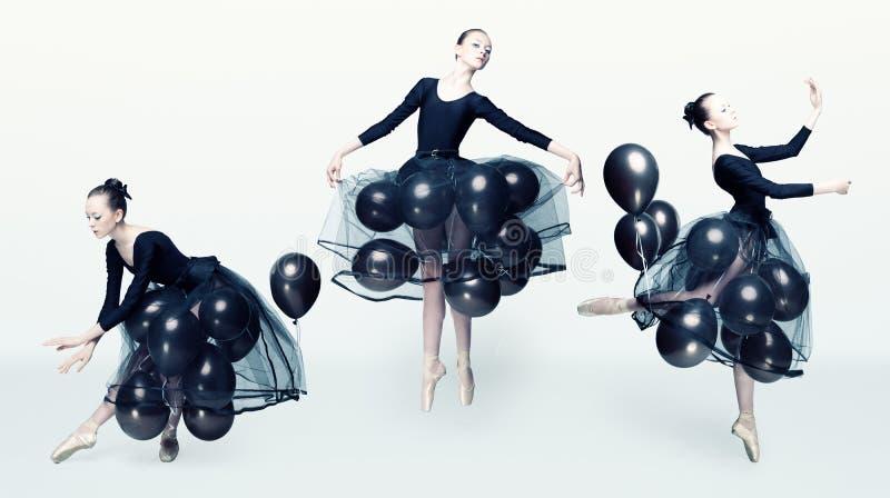Prima ballerina in flight. royalty free stock images