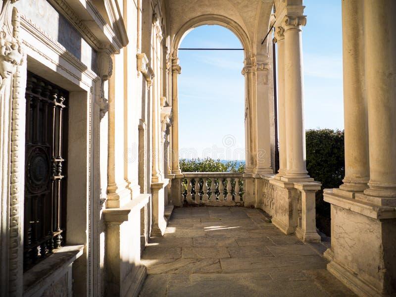Prima cappella della montagna sacra di Varese, eredità o dell'Unesco fotografia stock libera da diritti