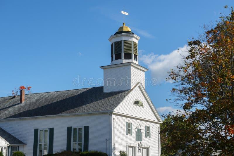 Prima chiesa di Merrimack in Merrimack, NH, U.S.A. fotografie stock