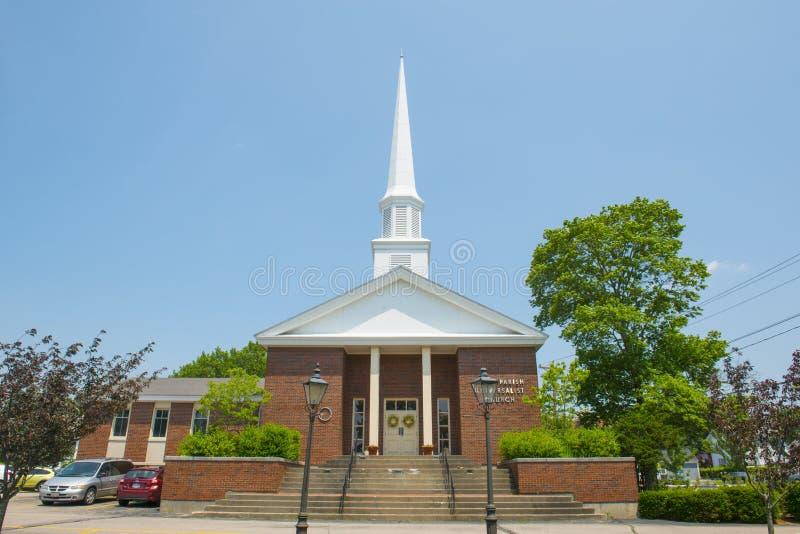Prima chiesa di parrocchia di Stoughton, Massachusetts, U.S.A. immagini stock