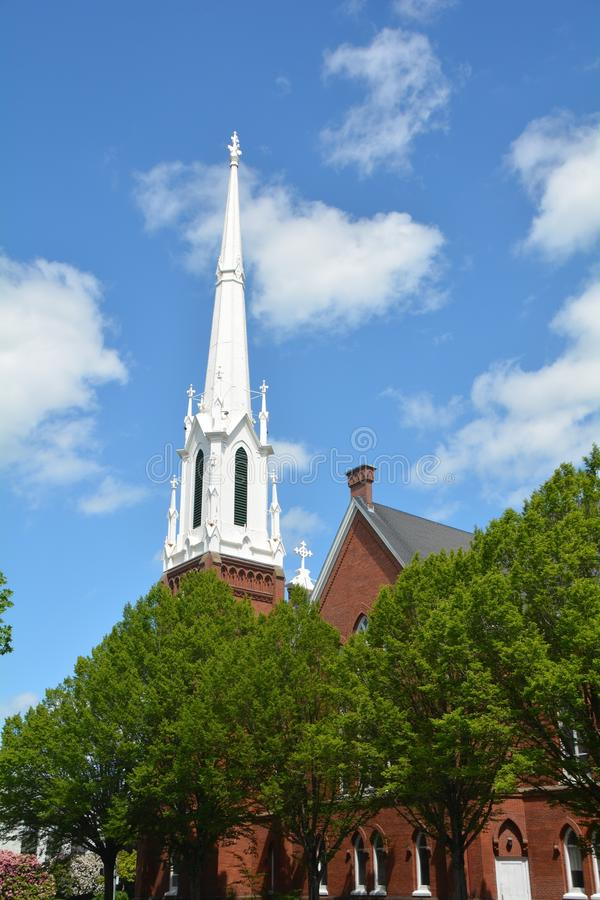 Prima chiesa metodista unita a Salem, Oregon fotografie stock libere da diritti