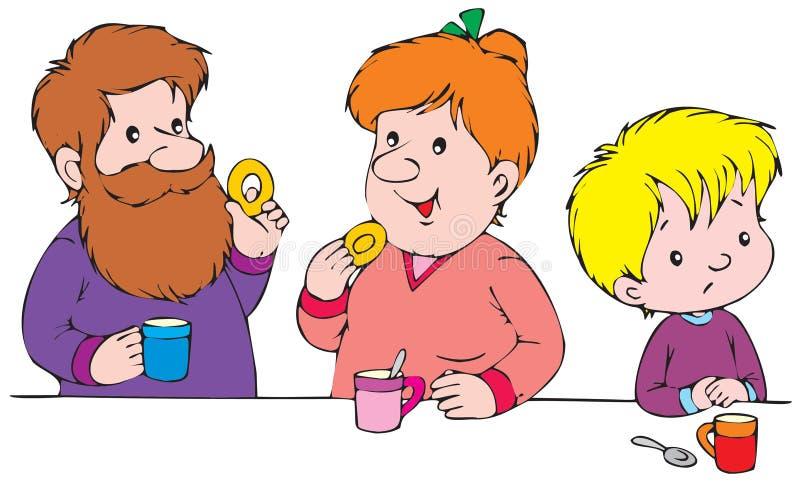 Download Prima colazione illustrazione vettoriale. Illustrazione di babe - 3142475
