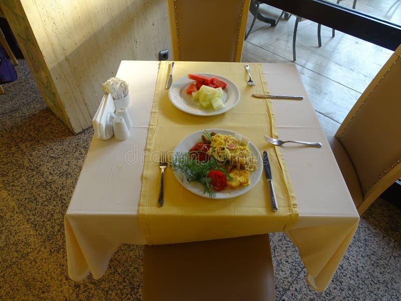 Prima colazione all'hotel, tutto l'incluso fotografia stock