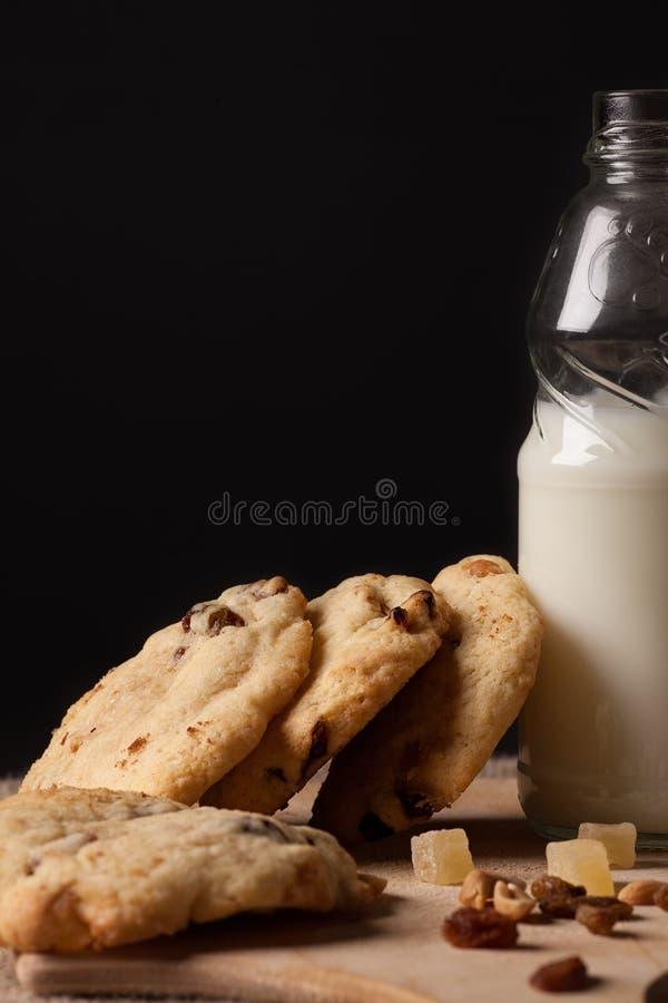 Prima colazione del latte immagini stock libere da diritti