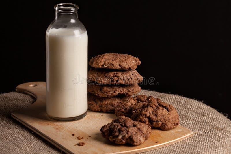 Prima colazione del latte fotografia stock libera da diritti
