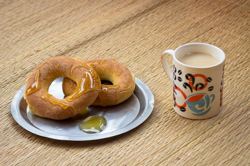 Prima colazione di Idialno fotografia stock libera da diritti