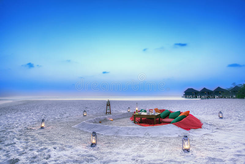 Prima colazione di nozze, Maldive immagini stock libere da diritti