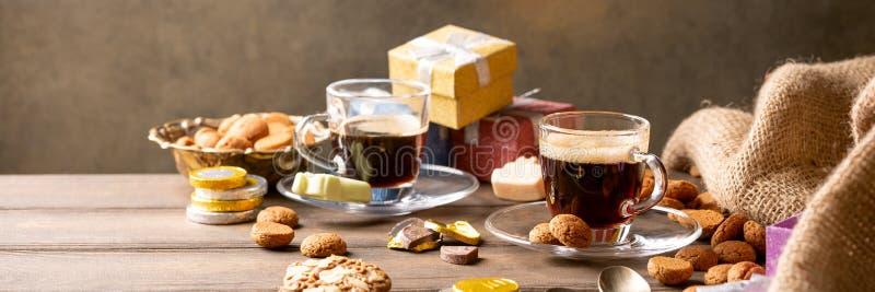 Prima colazione festiva di Sinterklaas di festa olandese fotografia stock