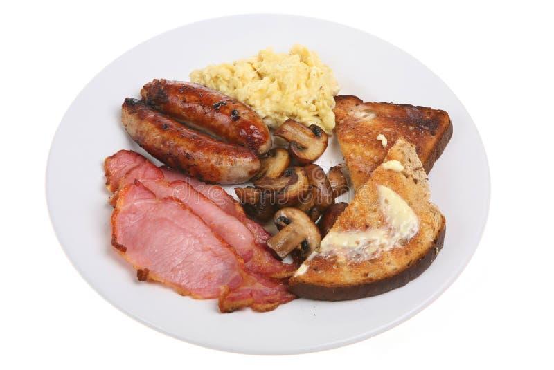 Prima colazione inglese fritta immagine stock