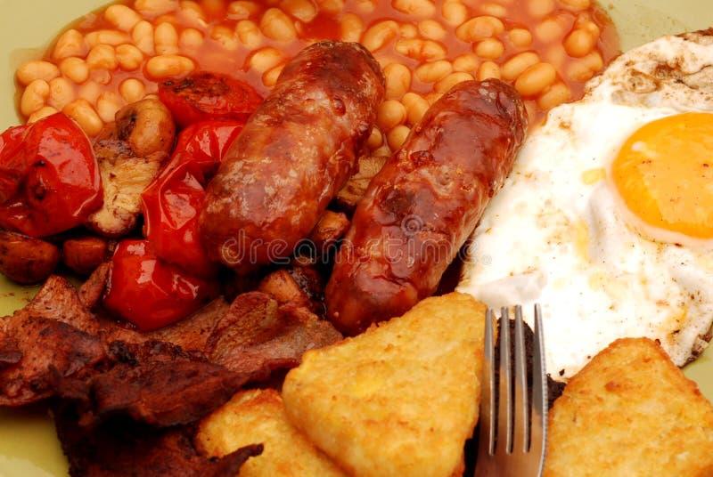 Prima colazione inglese piena. immagine stock