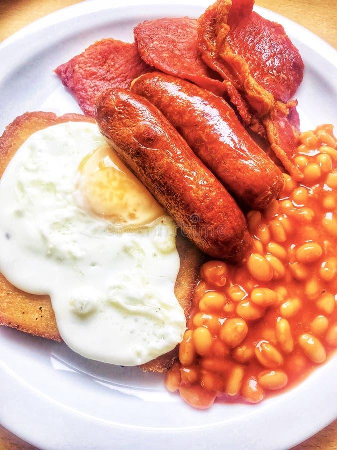 Prima colazione inglese piena immagine stock libera da diritti