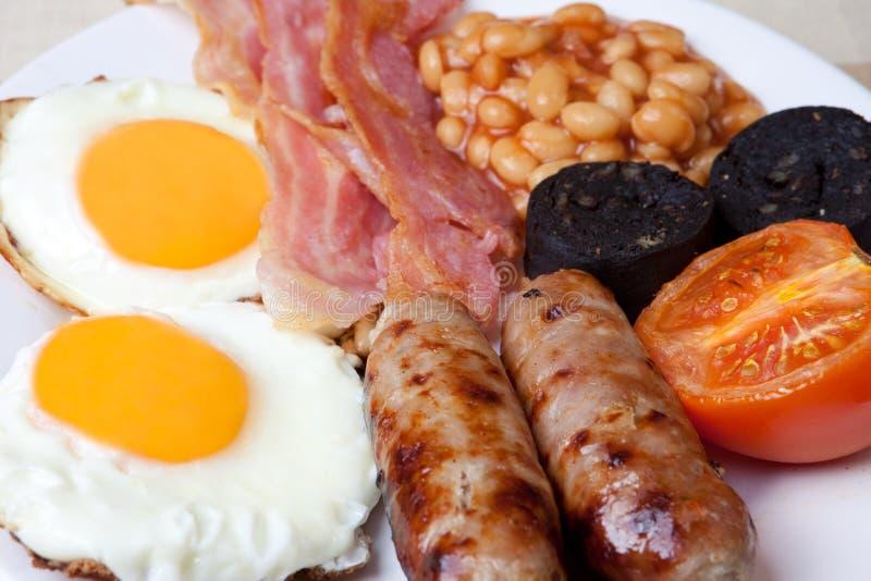 Prima colazione inglese piena tradizionale fotografie stock