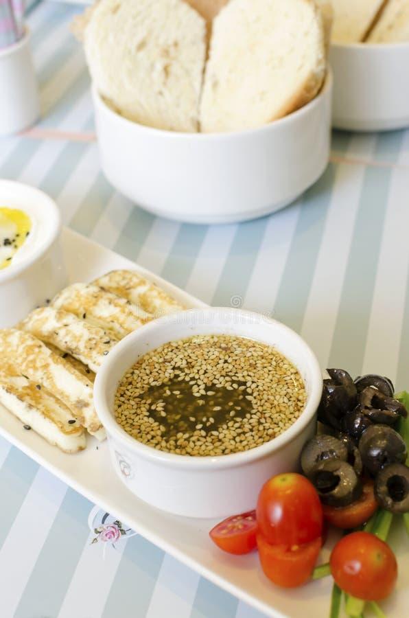 Prima colazione libanese immagini stock