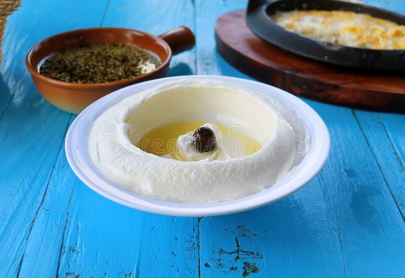 Prima colazione libanese tradizionale fotografia stock libera da diritti