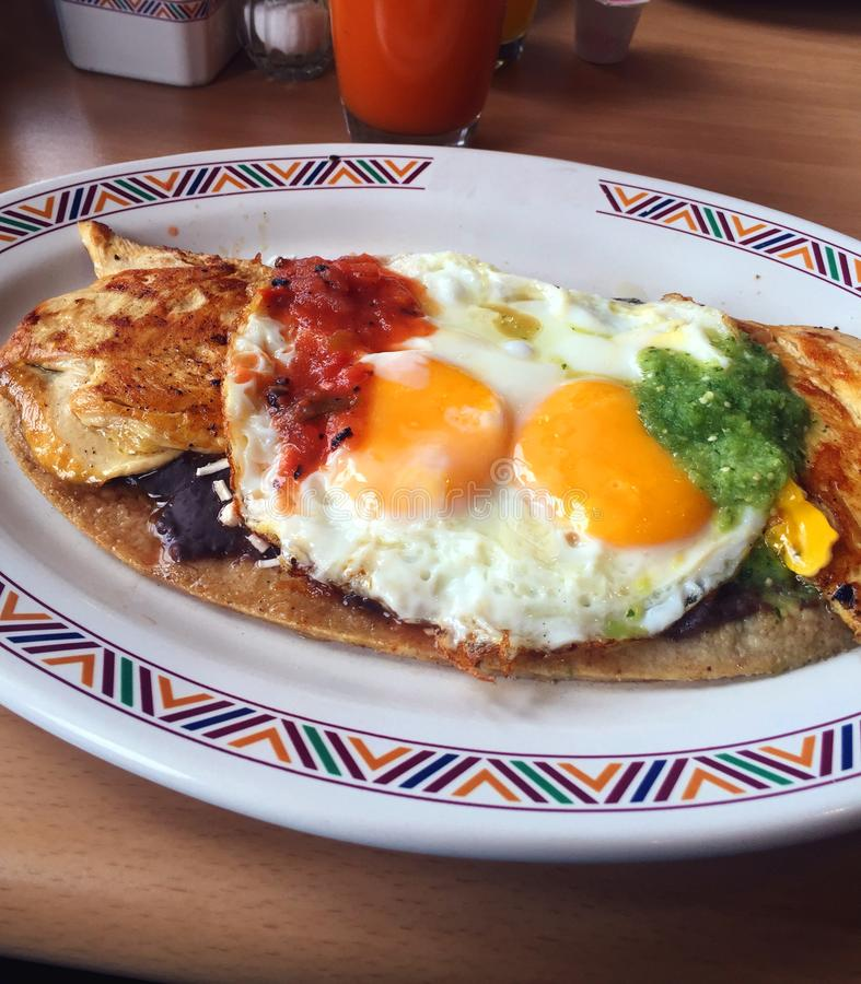 Prima colazione messicana immagine stock