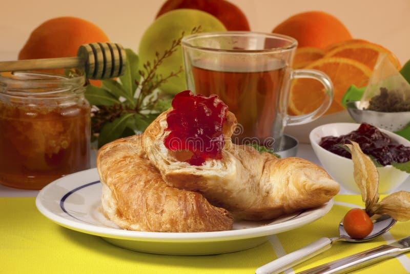 Prima colazione piena di sole di mattina immagine stock